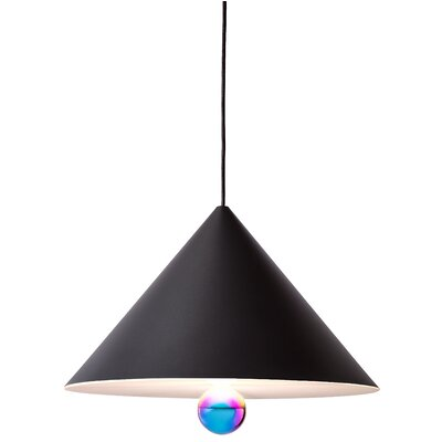West Drive 1-Light Mini Pendant Finish: Black/Rainbow