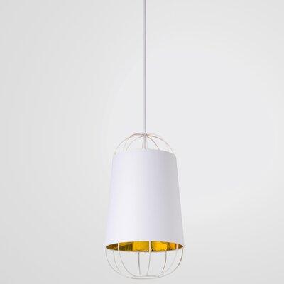 West Harptree 1-Light Mini Pendant Finish: White/Gold
