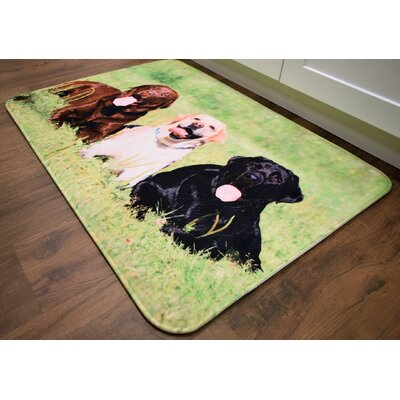 Barkley Labrador Retrievers Kitchen Mat Mat Size: 26 x 36