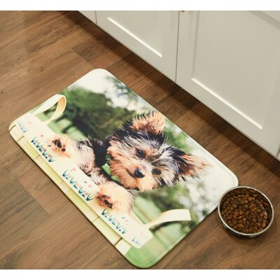 Barkley Yorkshire Terrier Kitchen Mat Mat Size: 26 x 36