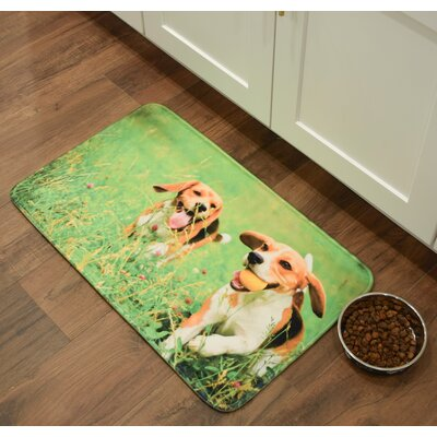 Barkley Beagles Playing Kitchen Mat Mat Size: 26 x 36