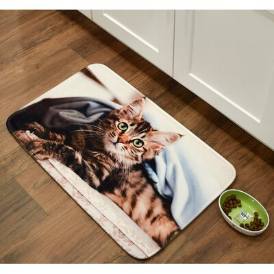Whimsical Whiskers Main Coon Kitchen Mat Mat Size: 26 x 36