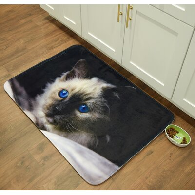 Whimsical Whiskers Birman Kitchen Mat Mat Size: 26 x 36