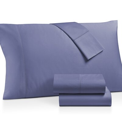 Gerrard Egyptian Quality 300 Thread Count 100% Cotton 4 Piece Sheet Set Size: California King, Color: Blue