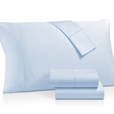 Gerrard Egyptian Quality 300 Thread Count 100% Cotton 4 Piece Sheet Set Size: King, Color: Ceil Blue