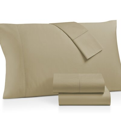 Gerrard Egyptian Quality 300 Thread Count 100% Cotton 4 Piece Sheet Set Size: Queen, Color: Gold