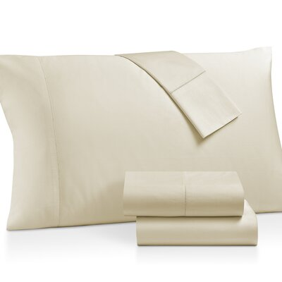 Gerrard Egyptian Quality 300 Thread Count 100% Cotton 4 Piece Sheet Set Size: California King, Color: Beige