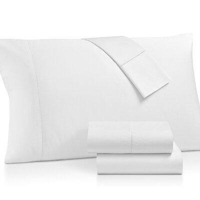 Gerrard Egyptian Quality 300 Thread Count 100% Cotton 4 Piece Sheet Set Size: California King, Color: White