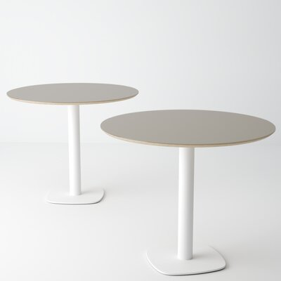 Ballester Dining Table Base Color: White, Top Color: Turtledove