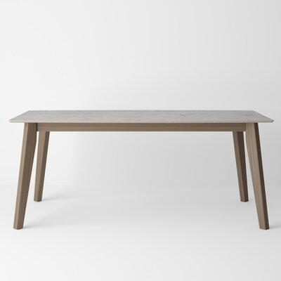 Almondsbury Extendable Dining Table Base Color: Tinted Truffle, Top Color: Beton