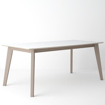 Almondsbury Extendable Dining Table Base Color: Tinted Truffle, Top Color: Arctic White