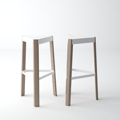 Amicus 25.5 Bar Stool Color: White