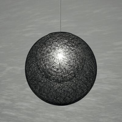 Mayuhana 2 Global Pendant Shade Color: Black