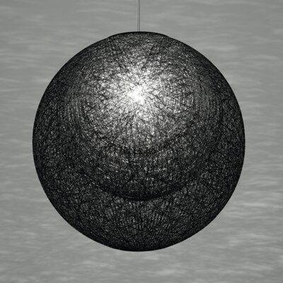 Mayuhana Mie 1 Light Globe Pendant Shade Color: Black