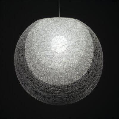Mayuhana Mie 1 Light Globe Pendant Shade Color: White
