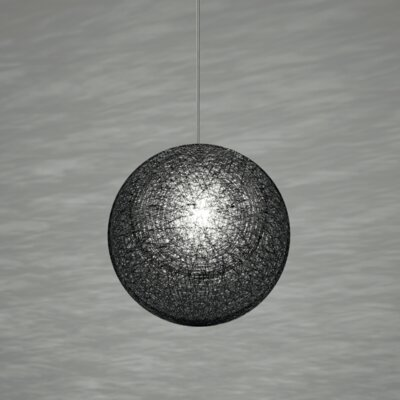Mayuhana 2 Globe Pendant Shade Color: Black