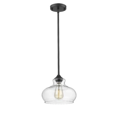 Trina 1-Light Inverted Pendant Finish: Painted Bronze