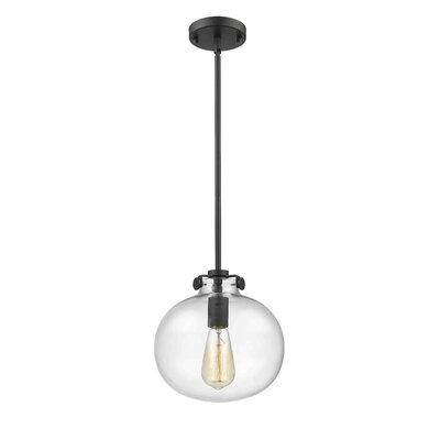Mullaney 1-Light Globe Pendant Finish: Painted Bronze