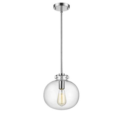 Mullaney 1-Light Globe Pendant Finish: Chrome