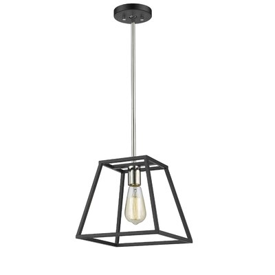 Mullens 1-Light Mini Pendant Finish: Polished Nickel/Black
