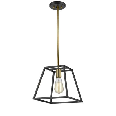 Mullens 1-Light Mini Pendant Finish: Gold/Black