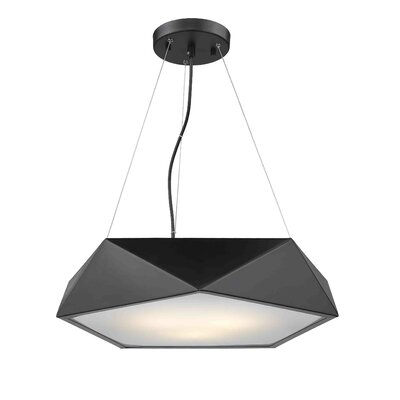 Muller 1-Light Geometric Pendant Finish: Black