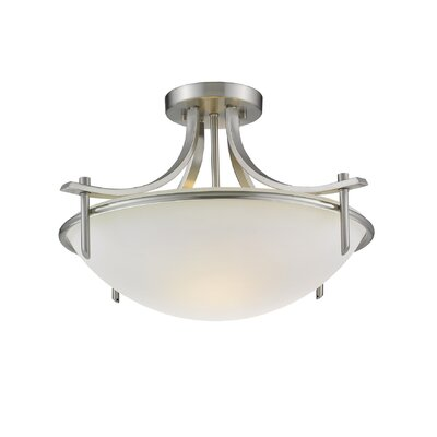 Colton 3-Light Semi Flush Mount Size: 12.5 H x 21.5 W x 21.5 D