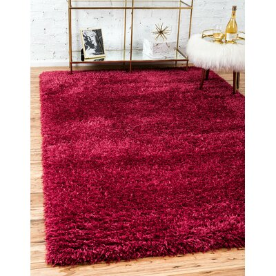 Red Area Rug Rug Size: Runner 2 x 6