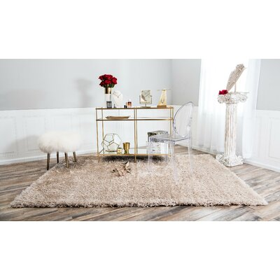 Cream Area Rug Rug Size: 8 x 10