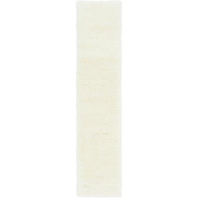 White Area Rug Rug Size: Runner 2 x 10