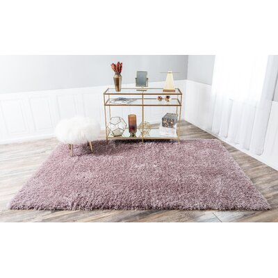 Pink Area Rug Rug Size: Rectangle 8 x 10