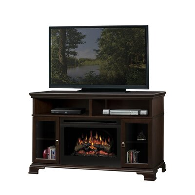 Brookings TV Stand with Electric Fireplace Finish: Espresso