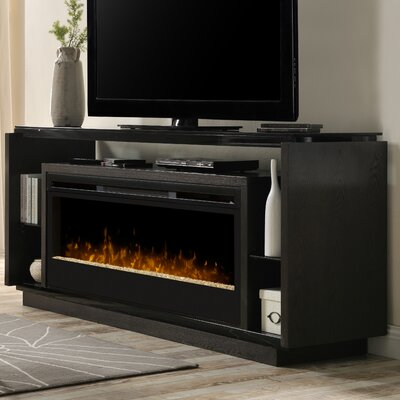 David 74 TV Stand with Fireplace