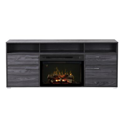 Sander TV Stand with Electric Fireplace Insert Style: Realogs