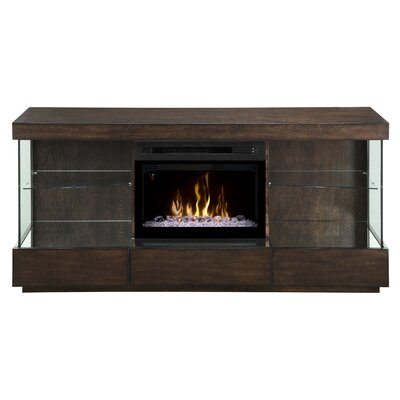 Camilla TV Stand with Electric Fireplace Insert Style: Acrylic Ice
