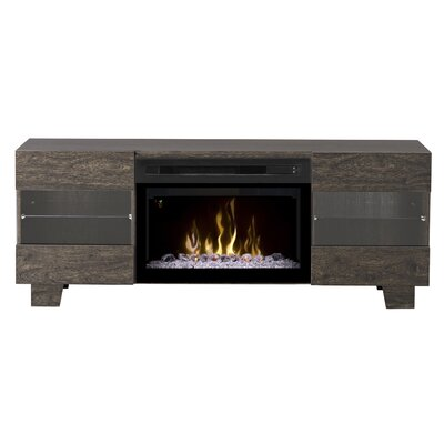Max TV Stand with Electric Fireplace Insert Style: Acrylic Ice