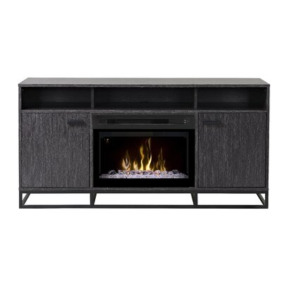 Reily TV Stand with Electric Fireplace Insert Style: Acrylic Ice