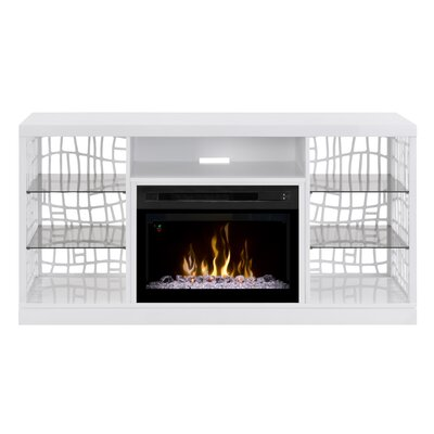 Charlotte TV Stand with Electric Fireplace Insert Style: Acrylic Ice