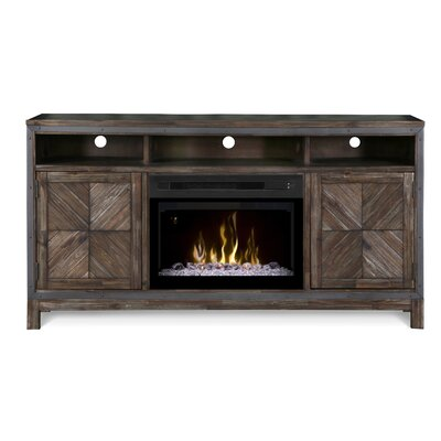Wyatt TV Stand with Electric Fireplace Insert Style: Acrylic Ice
