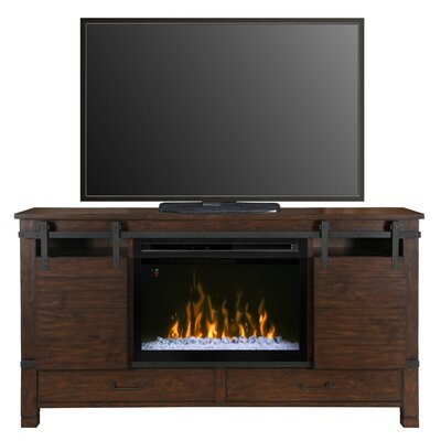 Austin TV Stand with Electric Fireplace Insert Style: Acrylic Ice
