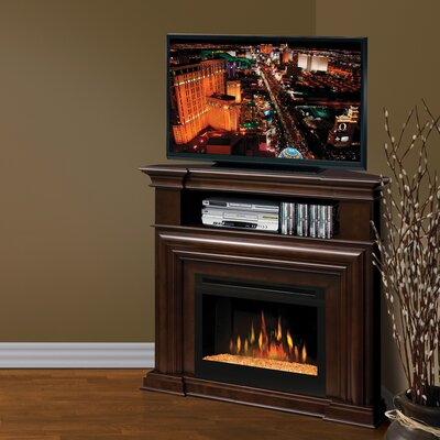 Montgomery 46 TV Stand with Fireplace Firebox: Multi-Fire XD Acrylic Ice
