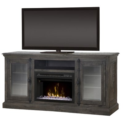 Open Storage Space 68 TV Stand with Fireplace Firebox Type: Realogs