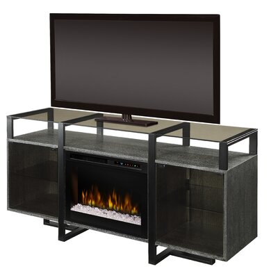 Milo 67 TV Stand with Fireplace Firebox Type: Acrylic Ice