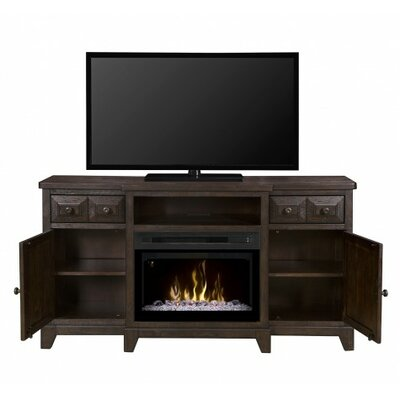 Open Storage 66 TV Stand with Fireplace Firebox Type: Realogs (XHD)