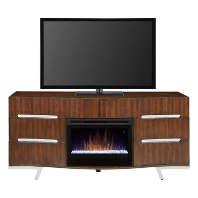 Valentina 72 TV Stand with Fireplace Firebox Type: Straight Glass