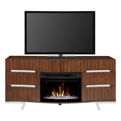 Valentina 72 TV Stand with Fireplace Firebox Type: Curved Glass