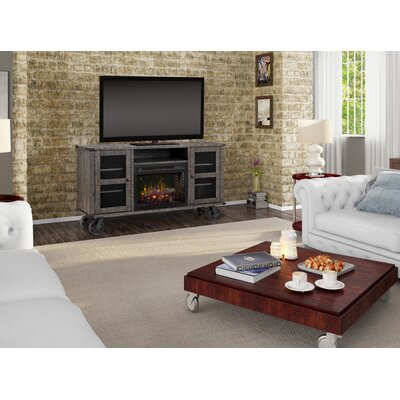 Open Storage Space 66.125 TV Stand with Fireplace Firebox Type: Realogs