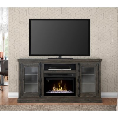 Open Storage Space 68 TV Stand with Fireplace Firebox Type: Acrylic Ice