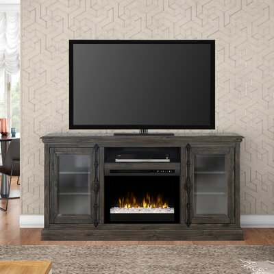 Open Storage Space 68 TV Stand with Fireplace Firebox Type: Acrylic Ice (XHD)