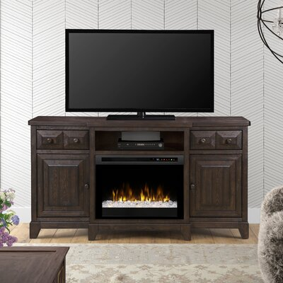 Open Storage 66 TV Stand with Fireplace Firebox Type: Acrylic Ice (XHD)